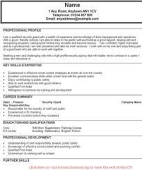 Impressive Design Security Guard Job Description For Resume Security