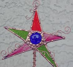 magic wand stained glass garden stake by dianne mcghee from magic rh ebsqart com fused glass art glass garden art