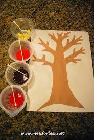 Q-Tip Fall Tree. Fall Art ProjectsFall ...