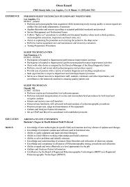 Sleep Technician Resume Samples Velvet Jobs