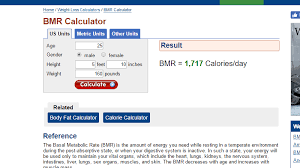 calculate how many calories you burn every day without exercise with this tool