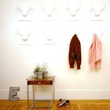 Unique Coat Racks Wall Mounted Extraordinary White Wall Coat Rack 32 Hook Wall Mounted Coat Rack White Wood Wall
