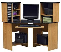 traditional hidden home office. Medium Size Of Oak Corner Computer Desk For Home With Large Storage Space Office Furniture Secretary Traditional Hidden