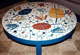 modern mosaic coffee table round mosaic outdoor coffee table