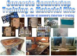outdoor concrete countertop diy kit decorative concrete training school of something better corporation betterpaths com