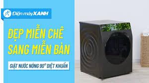 Máy giặt Sharp 10.5 Kg: giặt nước nóng 90 độ, tiết kiệm điện, nước  (ES-FK1054SV-G) • Điện máy XANH - YouTube