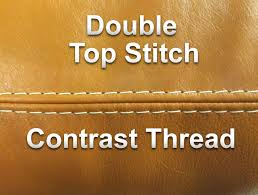 top stitch double
