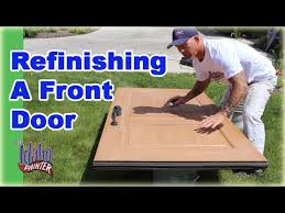 refinishing front doorRefinishing A Front Door Clear Coating A Door With Urethane