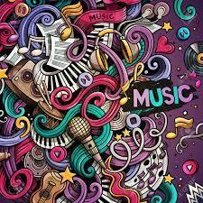 Cartoon 3d doodles Musical illustration ...