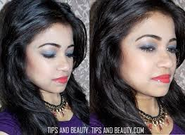 smokey blue eyes with c lips party