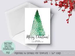Printable Christmas Card Templates Stunning Editable Pdf Christmas Card Template Diy Card Personalized Card
