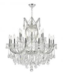maria theresa collection 19 light chrome finish and clear crystal chandelier 30 d x 28
