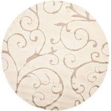 alert famous 4 ft round rug safavieh florida cream beige x area sg455