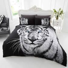black white tiger bedding twin full queen duvet cover comforter cover set