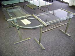 glass l shaped desk picture new furniture within shape ideas 8