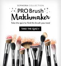 sephora collection pro brush matchmaker