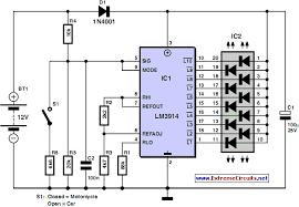 motorcycle and car battery tester circuit electronic circuit motorcycle and car battery tester circuit