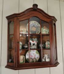 english antique display cabinet. Antique French Country Wall Display Curio Cabinet Divided Glass Lock + Key English