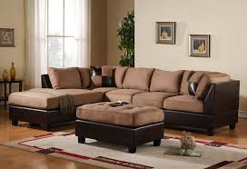 brown sectional sofas. Delighful Sofas Amazoncom Case Andrea Milano 3Piece Microfiber Faux Leather Sectional  Sofa With Ottoman Hazelnut Kitchen U0026 Dining Inside Brown Sofas