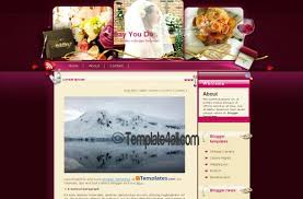 Wedding Website Template Mesmerizing Pink Purple Wedding Blogger Layout Download