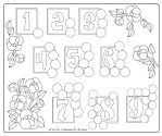 Игра раскраска с цифрами для детей