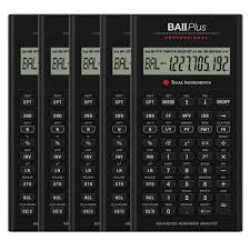 Financial Calculator Texas Instruments Iibapro Clm 4l1 A 5 Pack Texas Instruments Ti Ba Ii Plus Professional Financial Calculator 10 Digit S