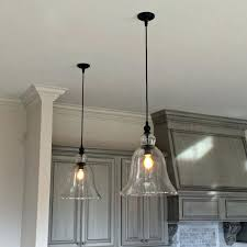 bell glass pendant light mercury glass bell pendant light shade