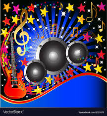 background music. Beautiful Music Music Rock Party Background Vector Image For D