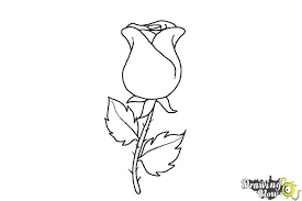 Easy To Draw Roses How To Draw A Rose Easy Drawingnow