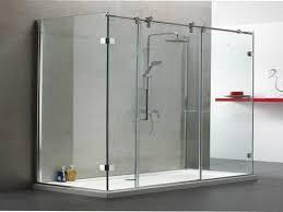 frameless sliding glass shower doors for tub