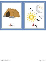 Letter D Vocabulary Picture Cards Color