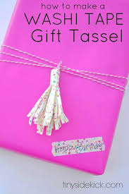washi tape gift tassel washi tape crafts gift wrap ideas birthday gift wrap