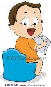 Clip Art Of Potty Training K16282848 Search Clipart Illustration