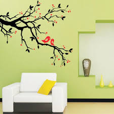 tree branch love birds cherry blossom wall decor decals removable decorative wall art mural poster stickers for living room tv background on love birds metal wall art with tree branch love birds cherry blossom wall decor decals removable