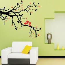 wall art birds on branch
