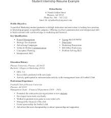 Summer Internship Resume Examples Internship Resume Template Summer Intern Resume Plate