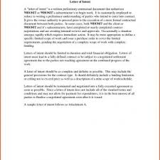 letter of intent for job letter of intent employment example best writing a letter of intent