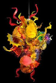 dale chihuly inspired chandeliers