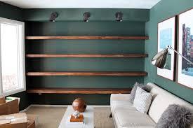 diy wall bookshelves american hwy solid wood shelves chris loves julia build bookshelf silver shelf brackets