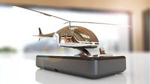 helicopter charging station for smartphones solid aluminum nickel black