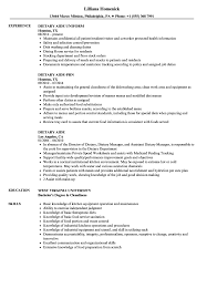 Dietary Aide Resume Samples Velvet Jobs