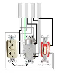 wiring a double gfci outlet wiring diagrams best one 20 amp gfci one 20 amp toggle switch to four 14 2 romex wires gfci wiring schematic wiring a double gfci outlet