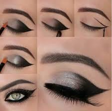 gorgeous black and silver eye makeup tutorial