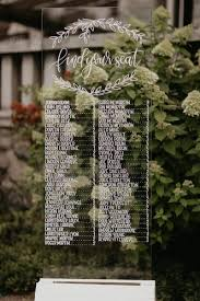 Glass Seating Chart With White Base In 2019 Wedding