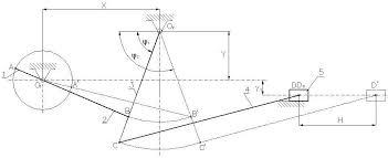 Анализ и расчёт механизма качающегося конвейера Курсовая записка  1 1Структурный анализ механизма