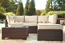 ashley furniture home beige wicker patio furniture