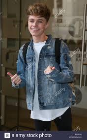 Singer Harvey Cantwell aka HRVY arriving at BBC Radio One Studios ...