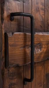 image of simple barn door pull handles