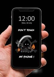 Don't touch my phone virus mobile wallpapers in these difficult times, we need to don't touch my phone scary eyes wallpapers feeling spooky? Don T Touch My Phone Wallpaper Black For Android Apk Download