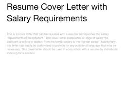 42 Sample Cover Letter With Salary Expectation Cover Letter